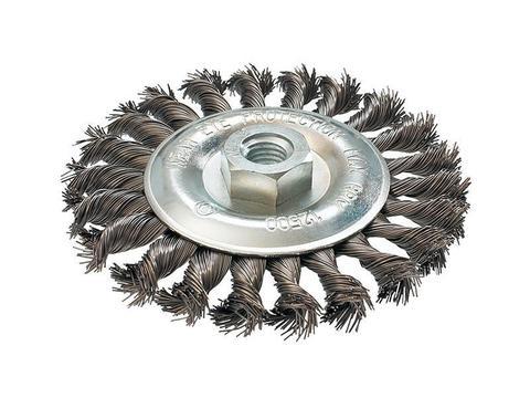 Кордщетка для МШУ радиальная витая ПРАКТИКА 125 мм, М14