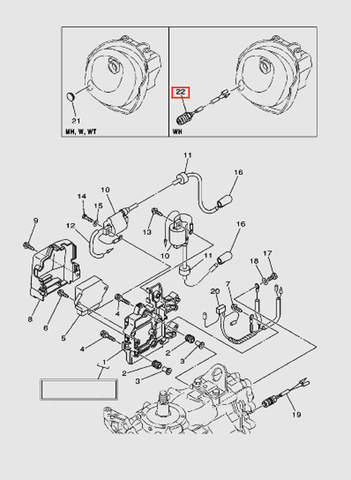 Датчик стартера  для лодочного мотора T40 Sea-PRO (9-22)