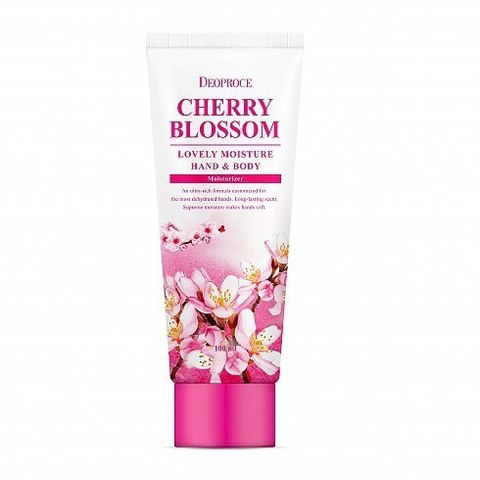 DEOPROCE MOISTURE HAND & BODY CHERRY BLOSSOM LOVERY