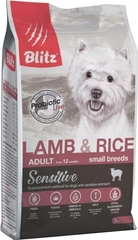 Корм для собак мелких пород, Blitz Lamb & Rice Small Breeds Adult, с ягненком