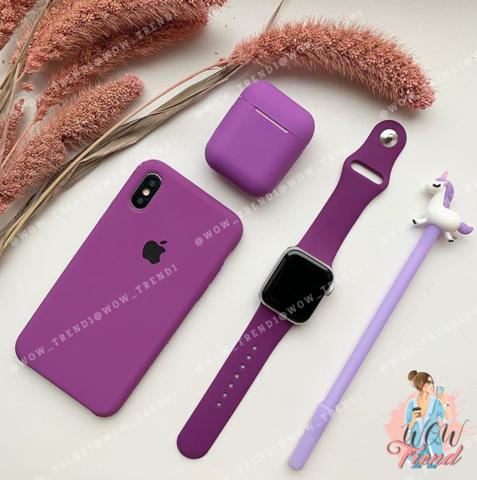 Чехол iPhone XS Max Silicone Case /purple/ баклажан 1:1