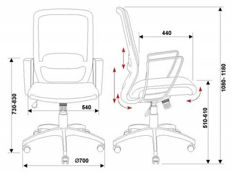 CH-899/TW-11 Кресло опкратора спинка сетка черный Z1 сиденье черный TW-11 (Бюрократ)
