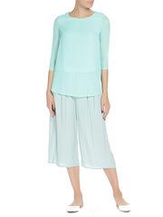 WP6512F-2 блузка женская, зеленая