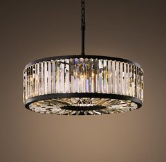 Welles Clear Crystal Round Chandelier 36