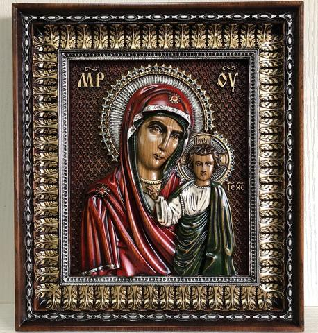 Икона резная Казанской Богородицы