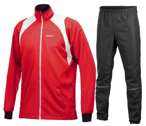 CRAFT TOURING STRETCH мужской лыжный костюм красный