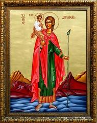 Христофор Святой Псеглавец. Икона на холсте.