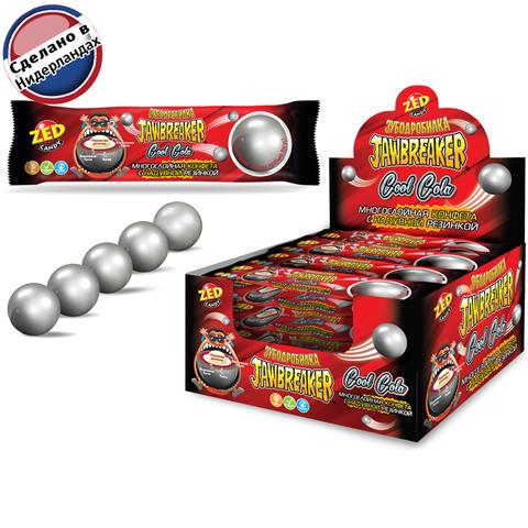 JAWBREAKER Зубодробилка Cool Cola  многослойная конфета с надувной резинкой 1кор*12бл*15 шт. 41 гр.