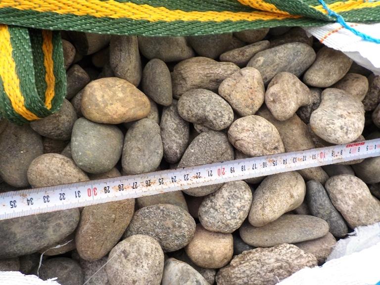 Галька камень речной Серый БигБэг