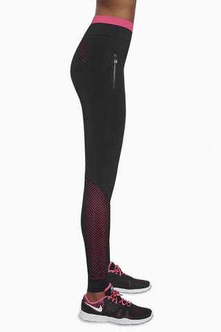 Эластичные легинсы для фитнеса 200 den черные