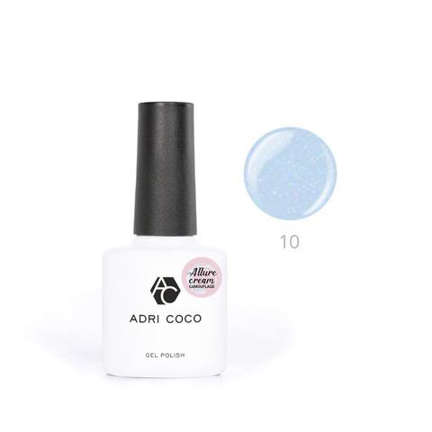 Гель-лак ADRICOCO Allure сream №10 камуфлирующий голубой с шиммером (8 мл.)