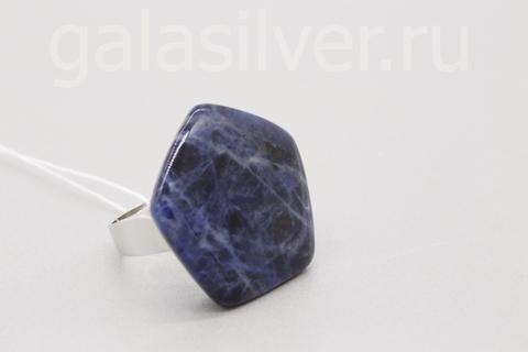 Кольцо с содалитом из серебра 925