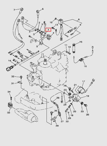 Реле стартера для лодочного мотора T40 Sea-PRO (10-1)