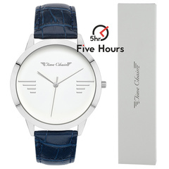 TIME CHAIN bayswater leather silver 70000/s