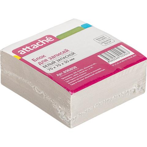 Блок-кубик ATTACHE ЭКОНОМ запасной 7х7х3 белый