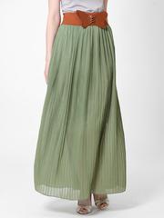 U288-7 юбка женская, зеленая