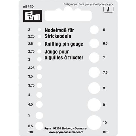 Трафарет для измерения размера спиц PRYM 611740