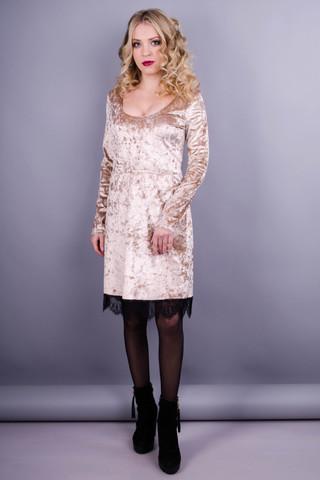 Лия. Нарядное женское платье. Золотистый.