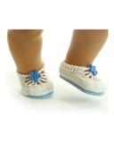Вязаные туфли летние - На кукле. Одежда для кукол, пупсов и мягких игрушек.