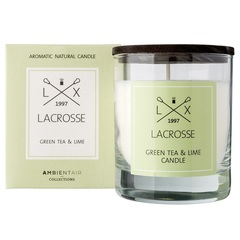 Свеча ароматическая в стекле 'Зеленый чай & Лайм' 8*8 см Ambientair
