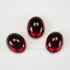 Кабошон овальный Чешское стекло, цвет - красный, 10х8 мм