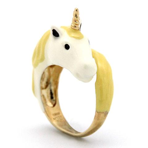 Кольцо Единорог (желтый)