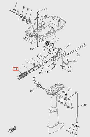 Ручка газа резиновая для лодочного мотора  T5 Sea-PRO (9-15)
