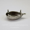 Сеттинг - основа - подвеска Капля для страза 18х13 мм (оксид серебра)