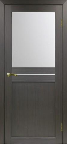 Дверь Optima Porte Турин 520.221, стекло матовое, цвет венге, остекленная