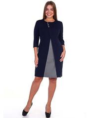 264 Платье женское, темно-синее