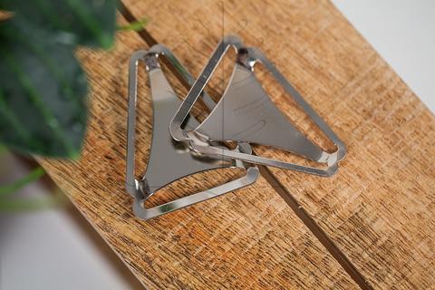 Рамка тройник для подтяжек, никель
