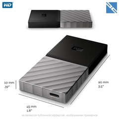 SSD диск внешний Western Digital WD 256GB My Passport USB 3.1 Type-C External SSD