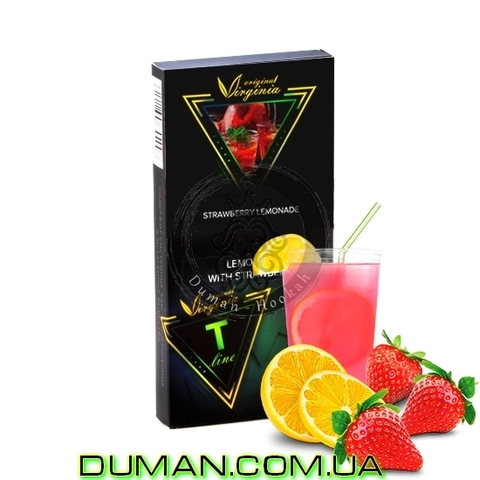 Табак Original Virginia T LINE Lemonade with Strawberry (Ориджинал Вирджиния Клубничный Лимонад) |20г