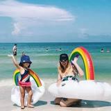 Круг надувной взрослый для плавания Rainbow Cloud 119 х 123 см радуга BigMouth BMPF-0012 | Купить в Москве, СПб и с доставкой по всей России | Интернет магазин www.Kitchen-Devices.ru