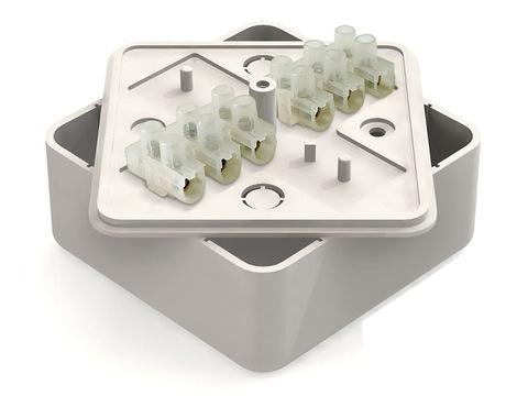 Коробка распаячная КР 100х100х29 ОП с клем. колодкой белая IP40 TDM