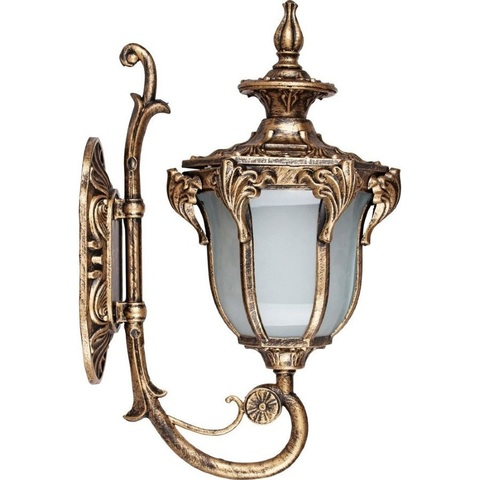 Светильник садово-парковый, 60W 230V E27 IP44 черное золото, PL4041 (Feron)