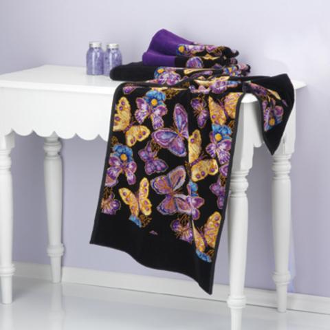 Полотенце 75x150 Feiler Mariposa 10 schwarz