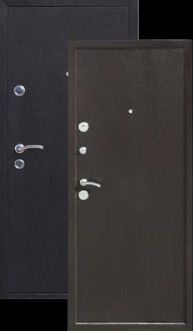 Дверь входная МЕТТА Техно металл/металл, 2 замка, 1,2 мм  металл, (медь антик+медь антик)
