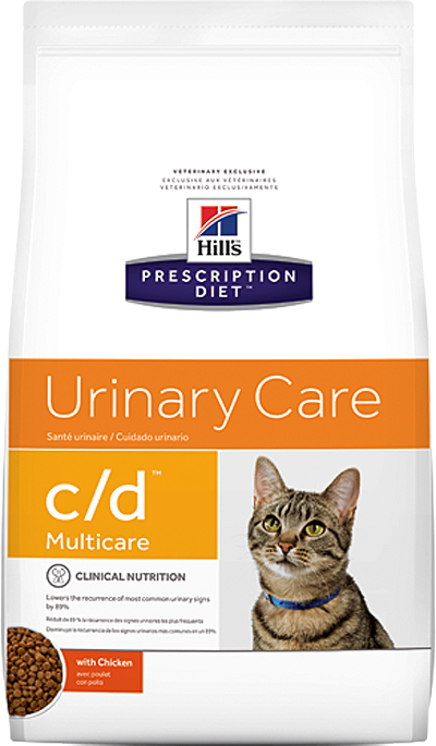 Кошки Ветеринарный корм для кошек против образования струвитов Hill`s Prescription Diet c/d  Курица цд_кур.png