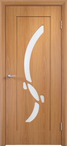 Дверь Верда Милена, цвет миланский орех, остекленная