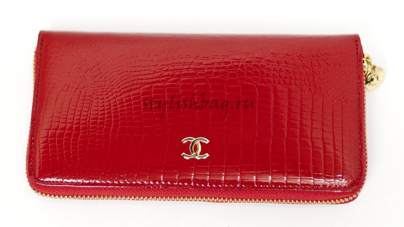 f3193a6a0edb Купить женский кошелек на молнии Chanel 9045 из красной кожи в ...