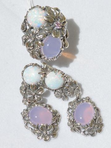 Мирабэль (кольцо + серьги из серебра)