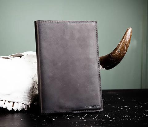 Блокнот в обложке из натуральной кожи ручной работы (А5)