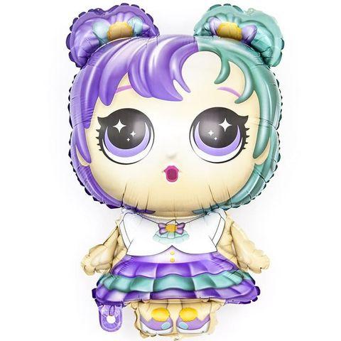 Шар Кукла, Разноцветные локоны, 81 см