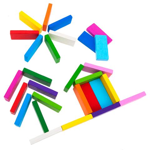 Плашки деревянные цветные, Томик, арт. 6675