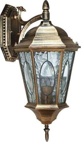 Светильник садово-парковый, 60W 230V E27 черное золото, PL151 (Feron)