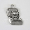 """Подвеска """"Кольцо в шкатулке"""" (цвет - античное серебро) 20х13 мм"""