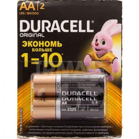 Элемент питания AA LR06 Duracell original Alkaline