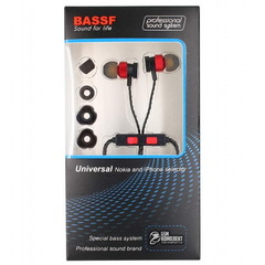 Гарнитура вакуумная BASSF CX-300U black-red