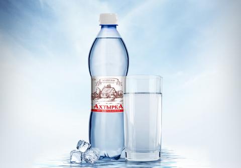 Дизайн этикетки на питьевую воду Ахтырка
